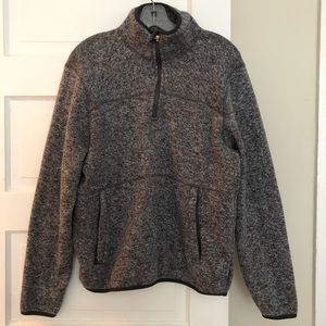 Woolrich Half-Zip Grey Fleece, M